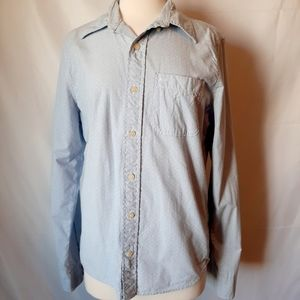 Abercrombie Blue Polka Dot Musscle Long Sleeve